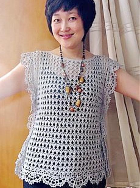 Patrón Blusa Crochet Super Fácil Otakulandiaes