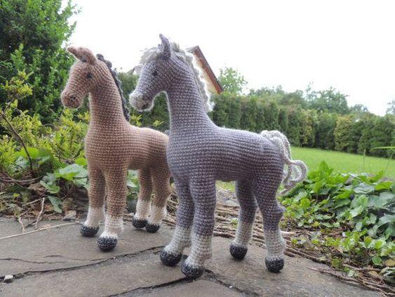 Preciosas Figuras De Caballos En Crochet Otakulandiaes