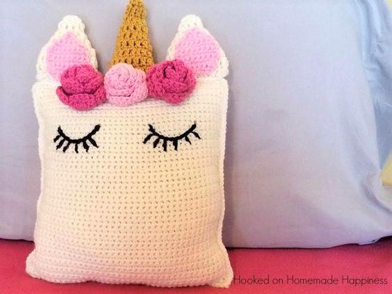 Cojín o almohadón Unicornio tejido a crochet - Paso a paso - YouTube   423x564