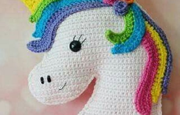 Unicorn crochet amigurumi - Step by Step - YouTube | 380x592