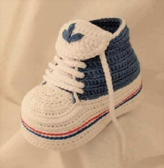 Zapatillas Adidas Bebe Crochet Zapatillas Adidas Bebe