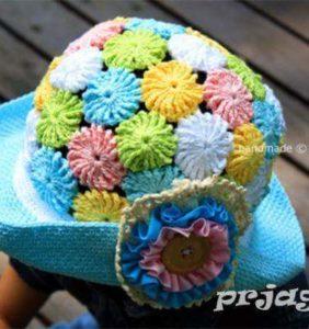 Gorro de Flores para nena 🌼