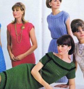 Moda Retro en Crochet ¡qué bonita!