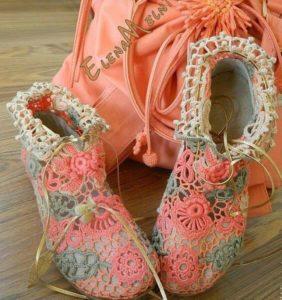 Zapatos en Crochet Irlandés ¡Impresionantes!