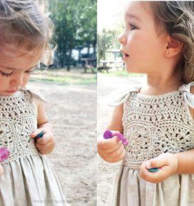 Vestidos para Bebés y Nenas con Canesú en Crochet y Tela