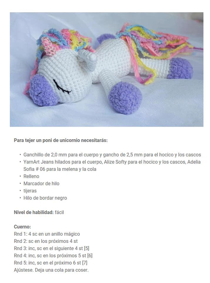 Pattern free unicorn amigurumi KornflakeStew.Patrón gratis ... | 960x714
