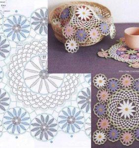 Top 30 Patrones de Carpetas o Tapetes de Mesa /2