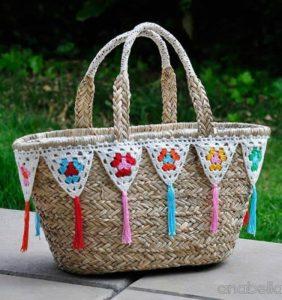 24 Cestos Tuneados con Crochet ¡¡ Super Bonitos !!
