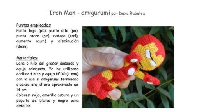 Iron Man inspirado pequeña muñeca de ganchillo | Etsy | 380x674