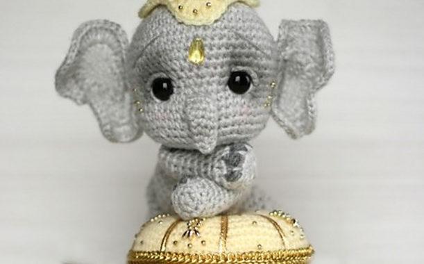 Patrón Amigurumi Pequeño Elefante, archivo PDF   Crochet patterns ...   380x611