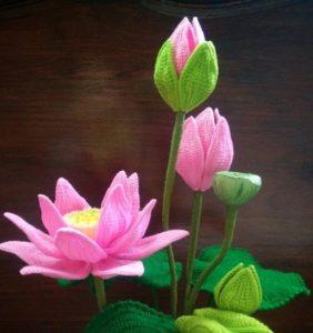 Flor de Loto en crochet