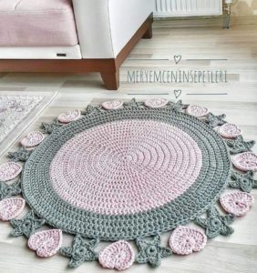 17 Super alfombras hechas en crochet