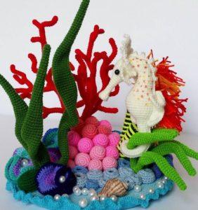 Vida marina en crochet