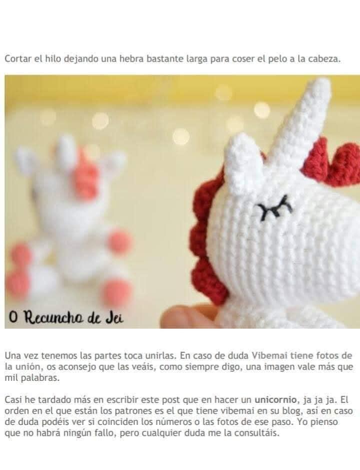 Unircornio-crochet-paso-a-paso | Patrones amigurumis en español ... | 938x720