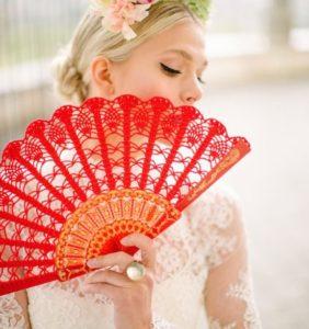 Abanicos españoles en crochet ¡preciosos!