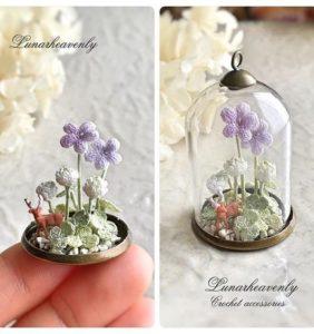 37 Miniaturas de flores en cápsulas de cristal