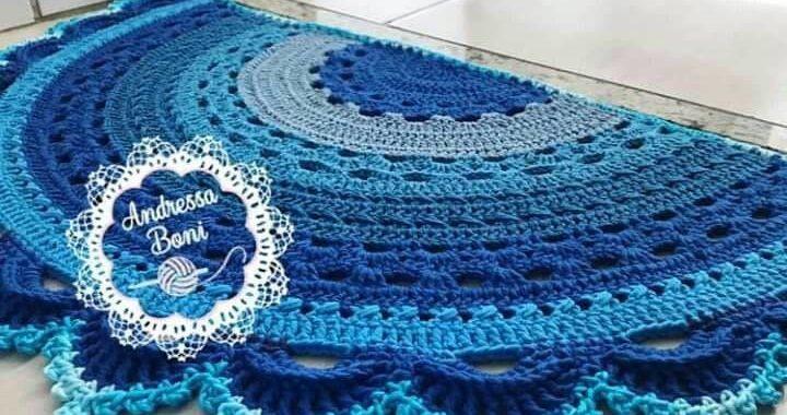 Alfombras de media luna en trapillo y crochet | Otakulandia