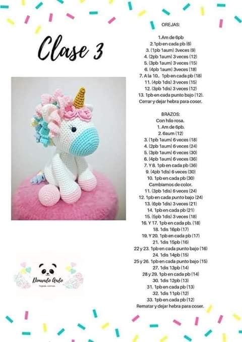 Amigurumi Pattern Premium: Unicorn Doll - Candy & Mint - Tarturumies | 678x480