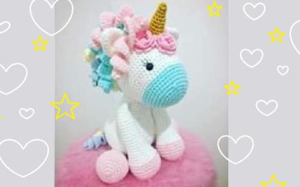 Unicornio, patrón en castellano de Vibemai   Crochet pot holders ...   272x436