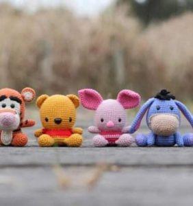 Winnie de Pooh y Familia – patrones en castellano