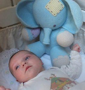 Elefantito azul grandote y adorable – patrón en castellano