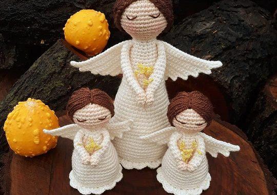 Angel Crochet Pattern 4 PDF 's English, Swedish, Dutch, German ... | 380x540