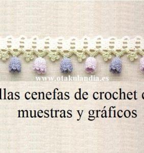 26 Cenefas y bordes de crochet para tu colección