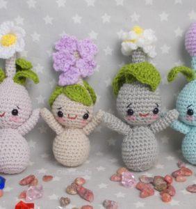 60 Bulbos y plantitas adorables en crochet
