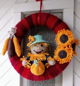 Coronas de Halloween con ¡patrones para ayudaros a hacerlas!