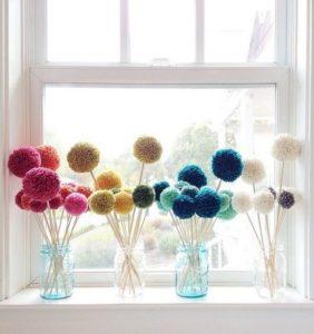 Decoramos la casa con Pompones de lana