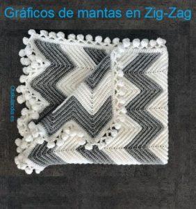 Gráficos para hacer hermosas mantas en Zig-Zag