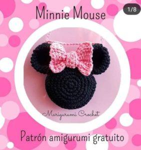 Cabeza Minnie crochet – patrón en castellano
