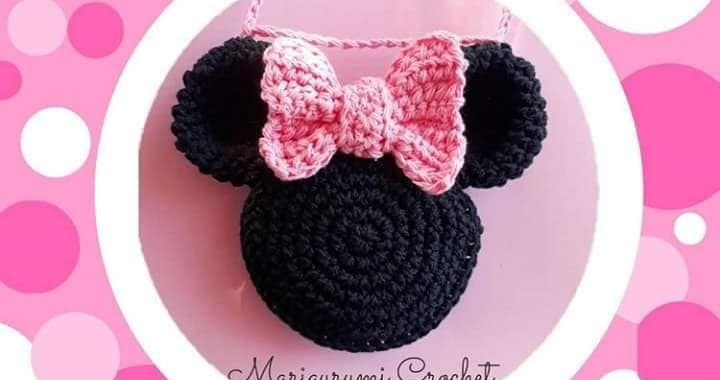 Crochet doll in Minnie Mouse costume - Amigurumi Today | 380x720