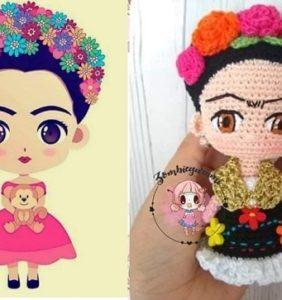 Preciosa mini Frida, patrón en castellano