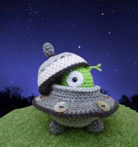 """Colección """"el Espacio"""" – 31 Alienígenas en crochet"""