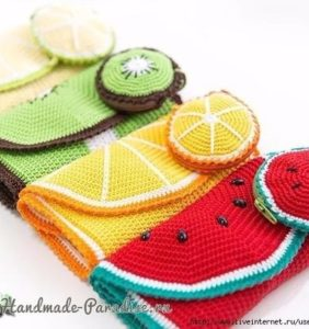 Organizadores de ganchillos hechos en crochet ¡buena idea!