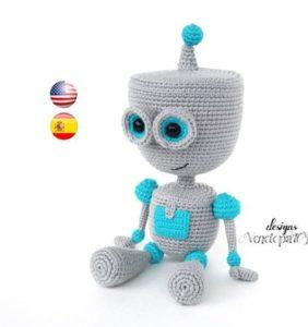 """Colección """"el Espacio"""" –  36 Robots en crochet"""