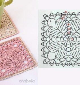 Los tapetes y posavasos más bonitos de crochet ¡¡ con gráficos !!/3
