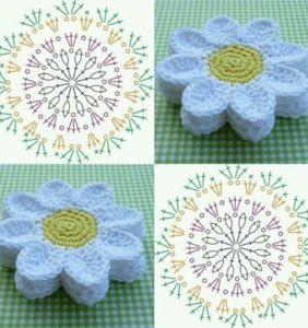 Los tapetes y posavasos más bonitos de crochet ¡¡ con gráficos !!/2