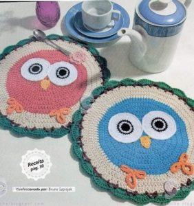 Los tapetes y posavasos más bonitos de crochet ¡¡ con gráficos !!/1