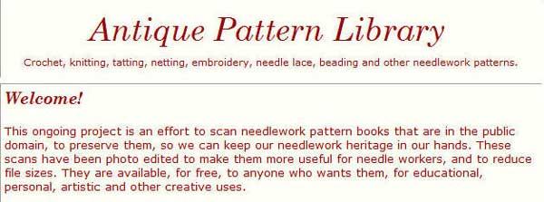 Librería de patrones antiguos