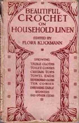 Bello crochet en lencería del hogar