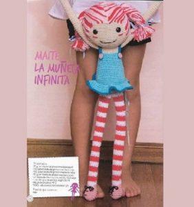 PROYECTO NAVIDAD: Maite, la muñeca infinita – patrón castellano