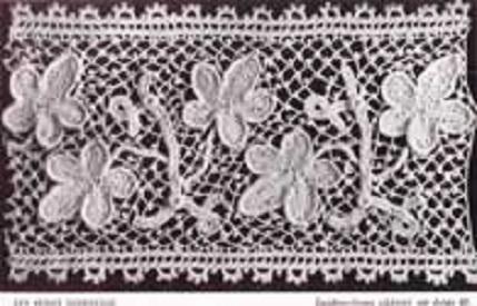 Patrón de entredós trabajo en crochet de Flora Klickmann