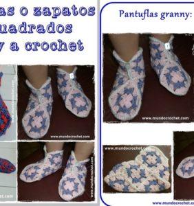 Patrones y paso a paso de pantuflas para los mayores y los peques