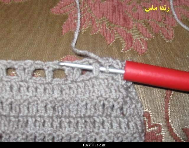 Foto tutorial capucha señora crochet