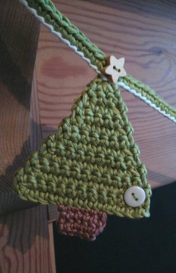 Árbol de Navidad hecho a mano en crochet