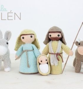 Belén completo en crochet – patrón en castellano de Lalalatoys