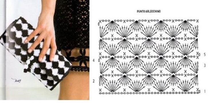 Patrones de 18 Bolsos de moda, en crochet