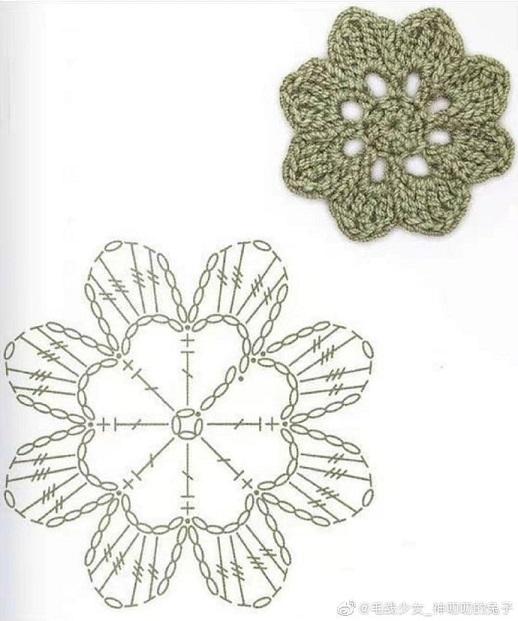 Gráfico de granny en flor